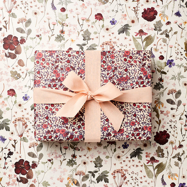 Katie Leamon Pressed Floral & Wild Rose Gift Wrap