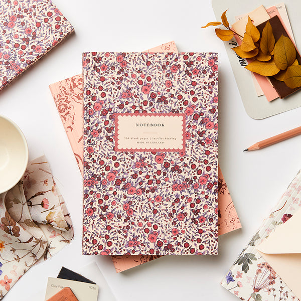 Katie Leamon Heirloom Wild Rose Notebook