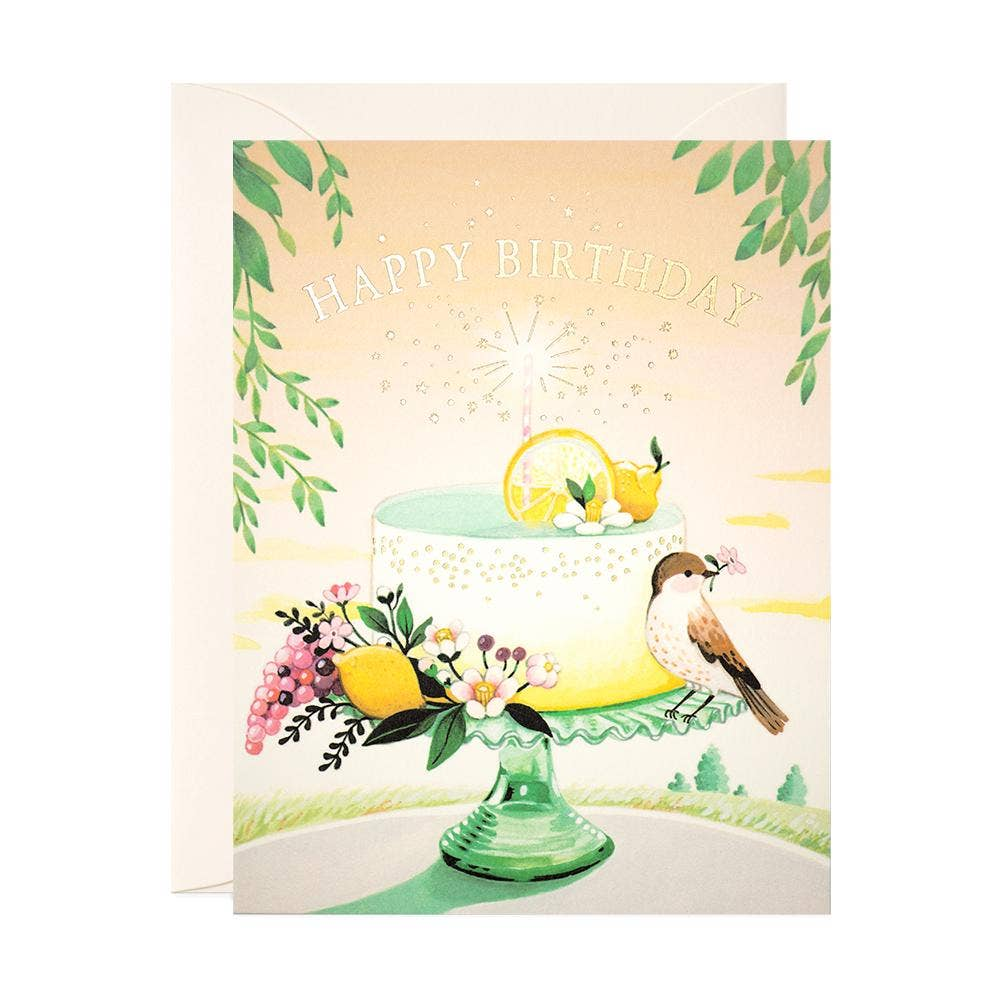 JooJoo Paper Lemon Cake Birthday Card