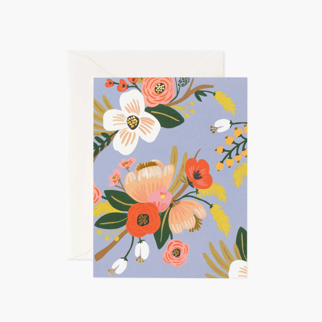 Rifle Paper Co. Lively Floral Periwinkle Card