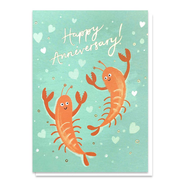 Stormy Knight Lobsters Anniversary Card