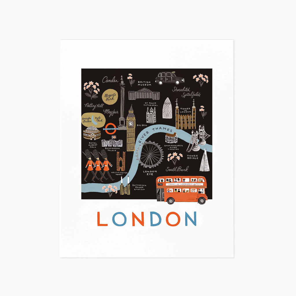 Rifle Paper Co. London Map Art Print