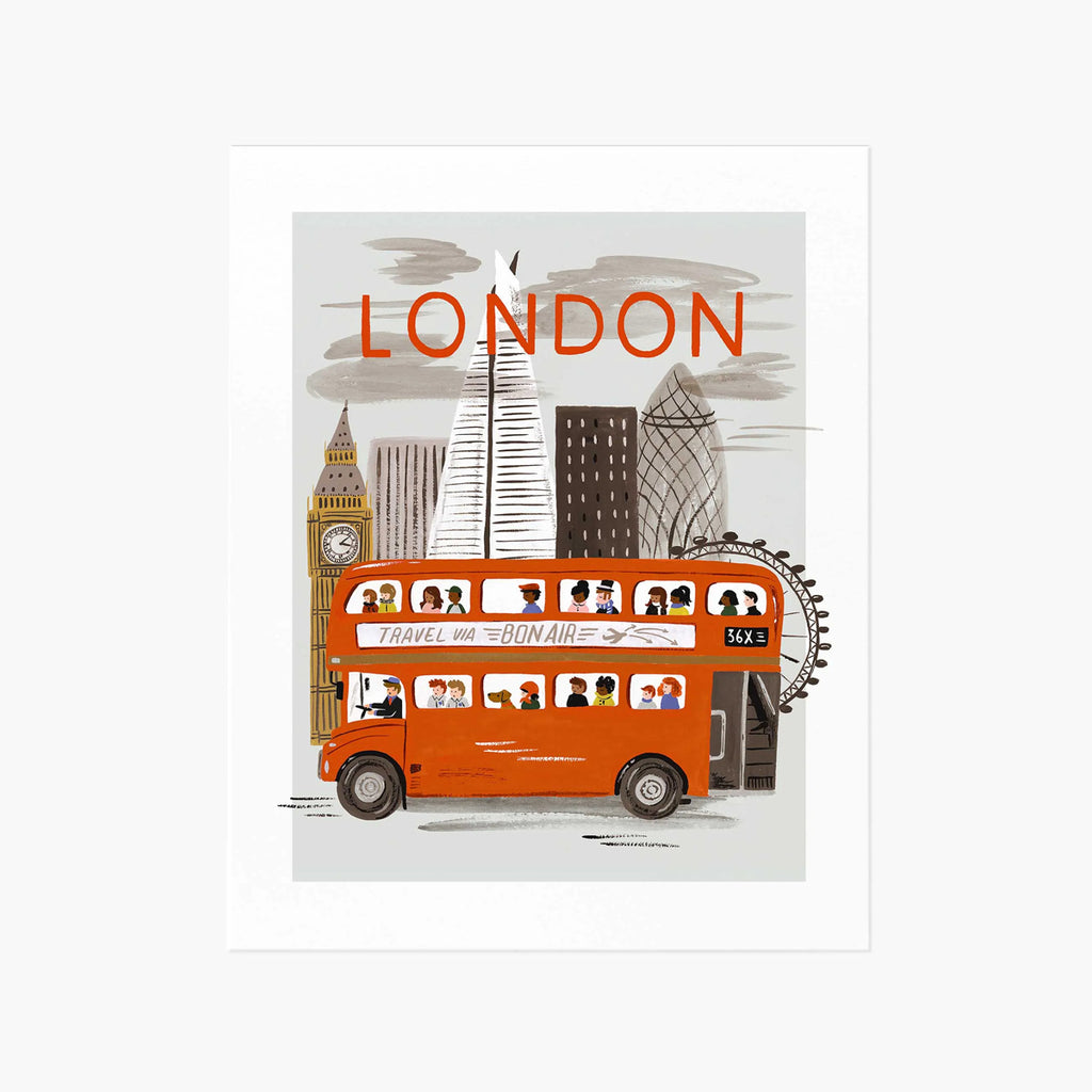 Rifle Paper Co. London World Traveler Art Print