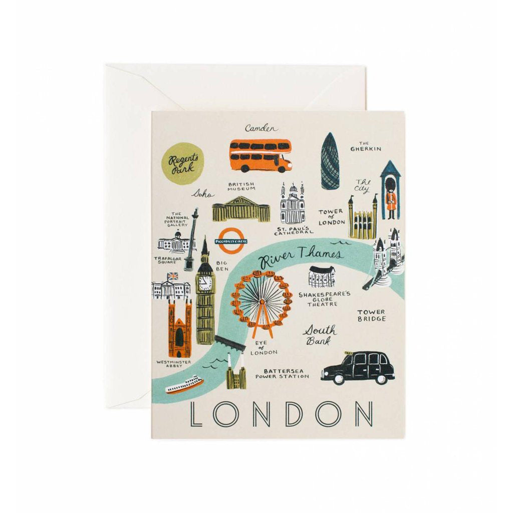 Rifle Paper Co. London Map Card (Cream)