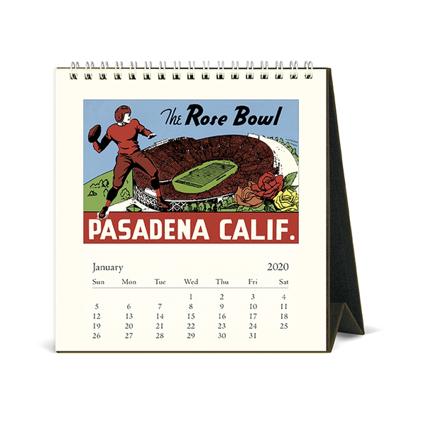 Cavallini & Co. 2018 Los Angeles Desk Calendar inside view