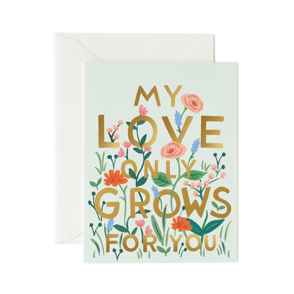 Rifle Paper Co. My Love Only Grows Card