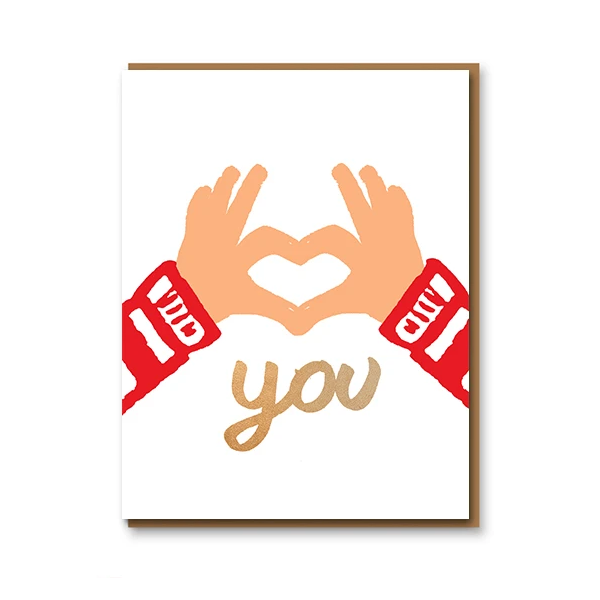 1973 Love You Hands Card