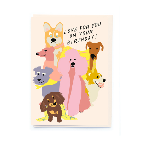 noi Loving Dogs Birthday Card