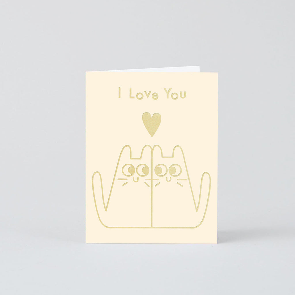 Elliot Kruszynski Love Cats Card