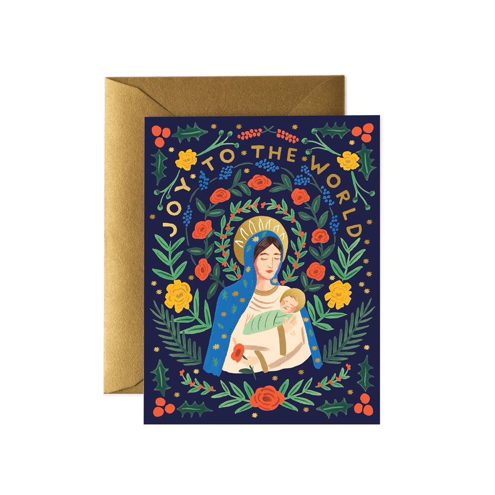 Rifle Paper Co. Madonna And Child Christmas CARD SET