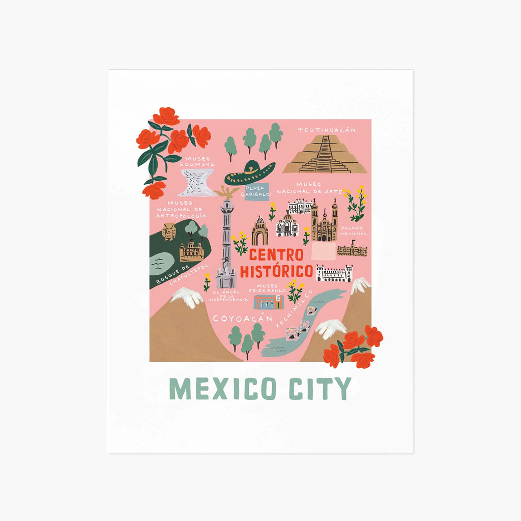 Rifle Paper Co. Mexico City Map Art Print