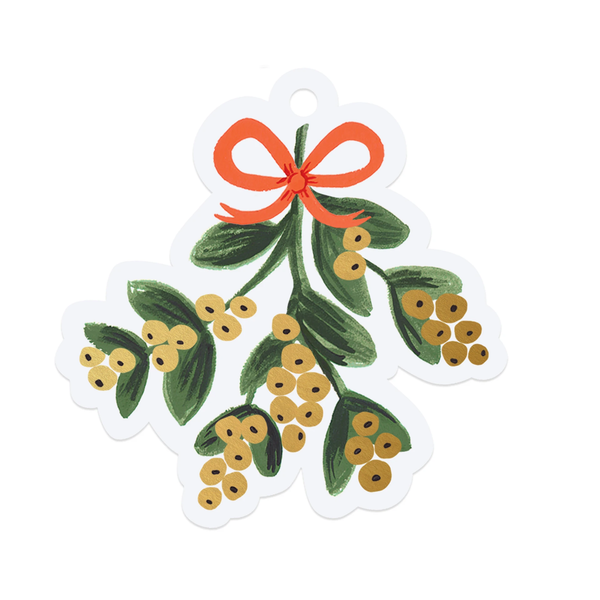Rifle Paper Co. Christmas Mistletoe Die-Cut Gift Tags