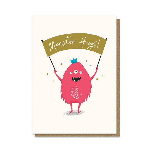 Stormy Knight Monster Hugs Card