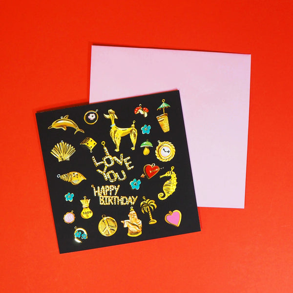 Eleanor Bowmer Vintage Charms Birthday Card - Mood 10