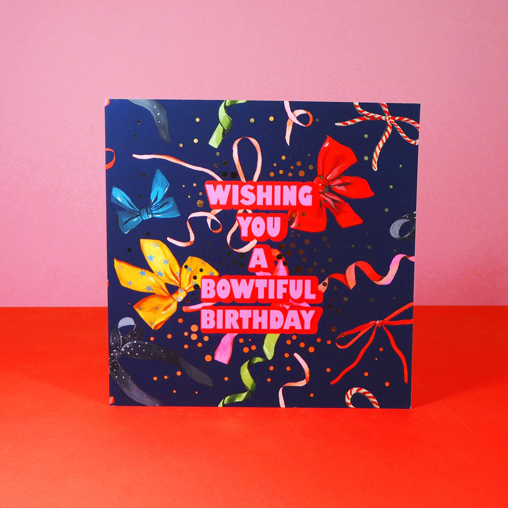 Eleanor Bowmer Bowtiful Birthday Card - Mood 12