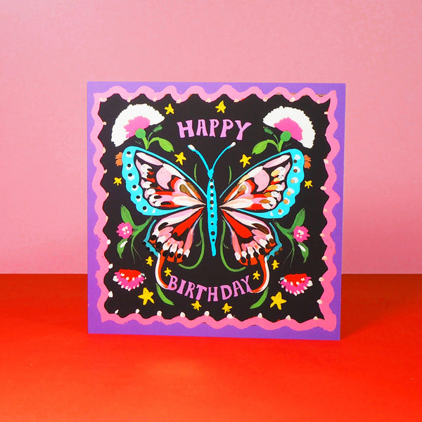 Eleanor Bowmer Butterfly Birthday Card - Mood 4