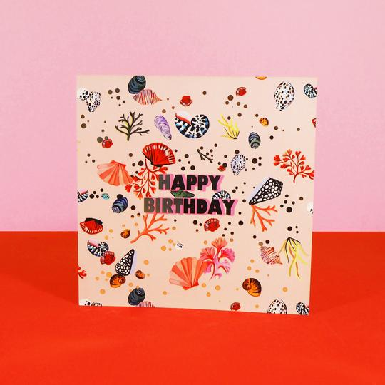 Eleanor Bowmer Miami Shells Birthday Card - Mood 13