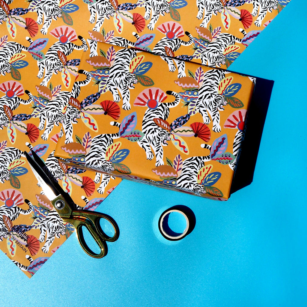 Eleanor Bowmer Mustard Jungle Gift Wrap
