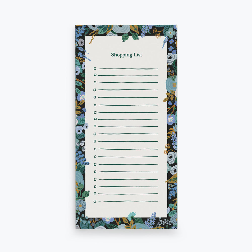 Rifle Paper Co. Garden Party Blue Market Pad