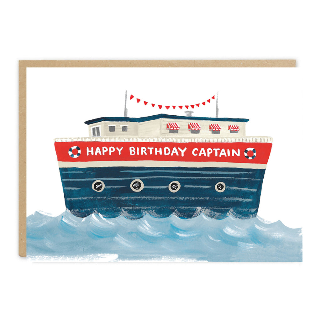 Jade Fisher Bill Birthday Card - Captain
