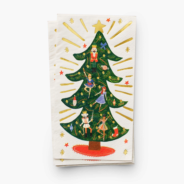 Rifle Paper Co. Holiday Guest Napkins - Nutcracker