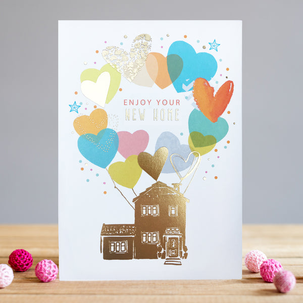 Louise Tiler New Home Balloons Card