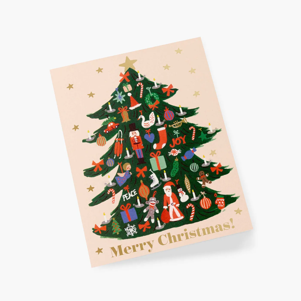 Rifle Paper Co. Trimmed Tree Christmas Card SET