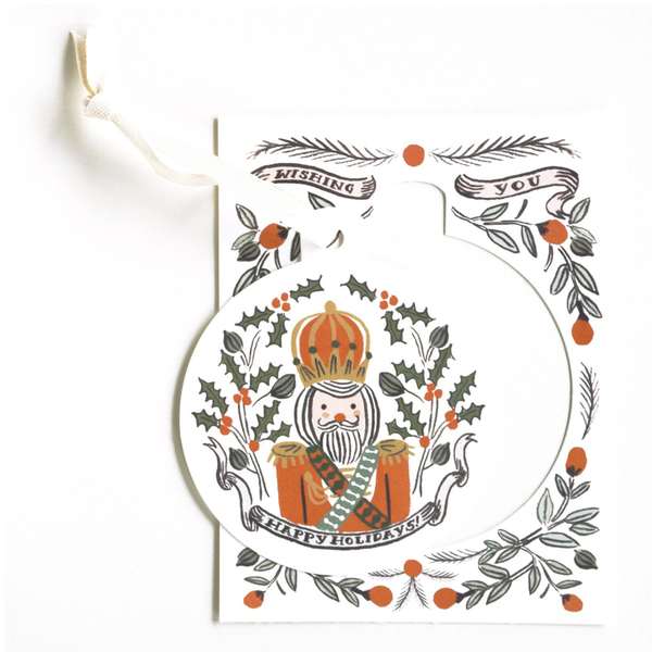 Rifle Paper Co. Ornament Card Set, Nutcracker