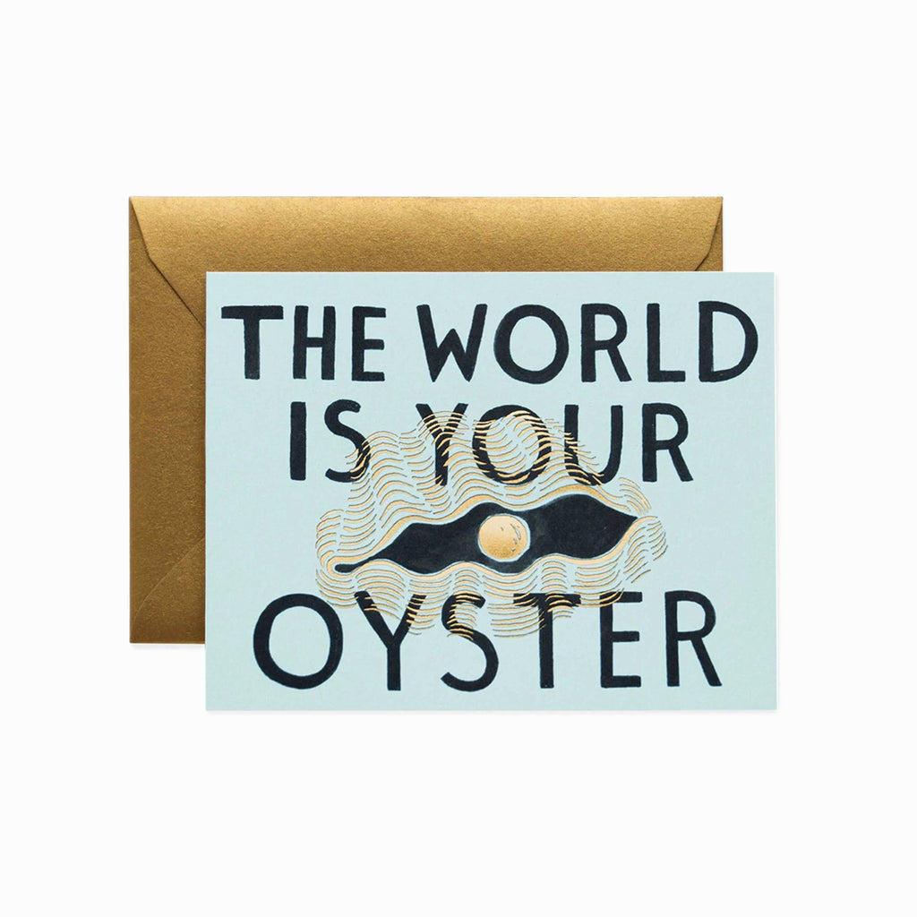 Rifle Paper Co. The World Is Oyster Card