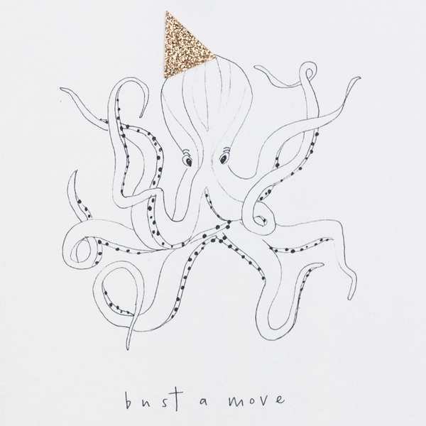 Katie Housley Bust A Move Octopus Birthday Card