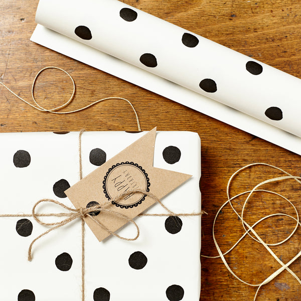 Katie Leamon Painted Polka Dot Gift Wrap