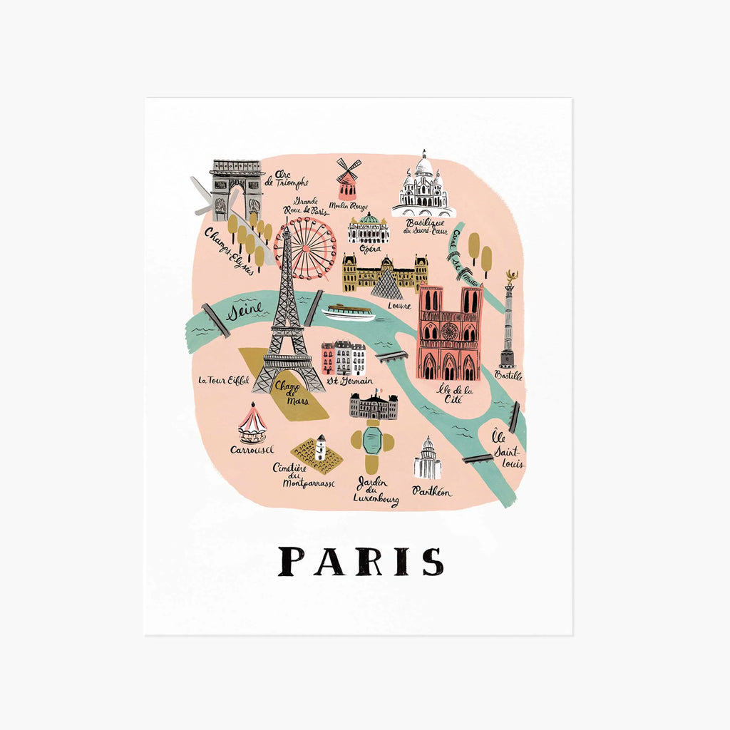 Rifle Paper Co. Paris Map Art Print