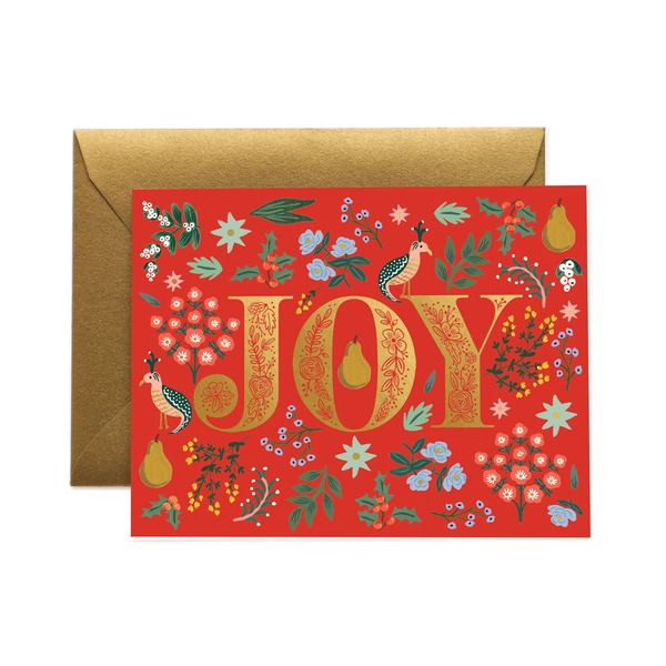 Rifle Paper Co. Partridge Christmas Card