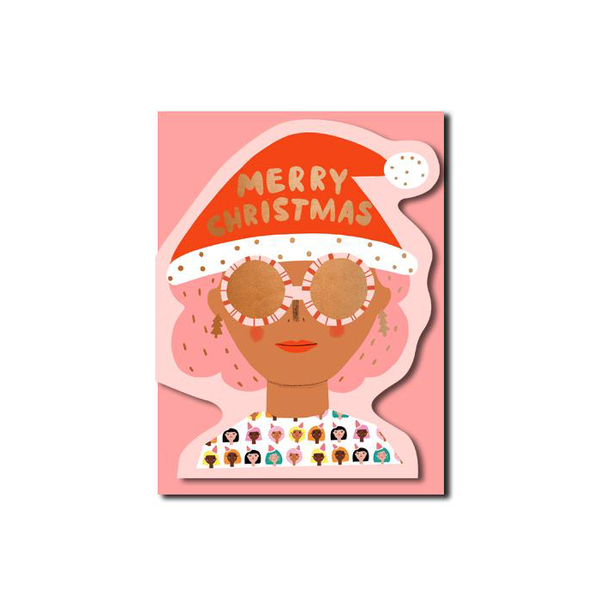 Carolyn Suzuki Christmas Party Girl Card