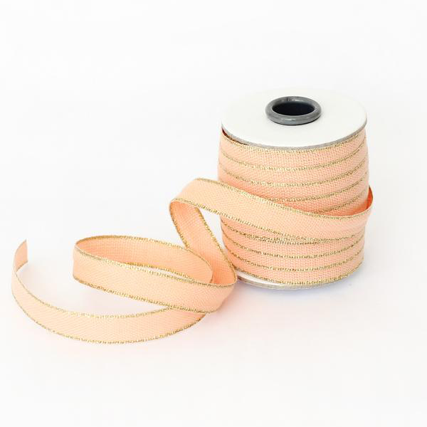 Studio Carta Drittofilo Cotton Ribbon - Peach/Gold