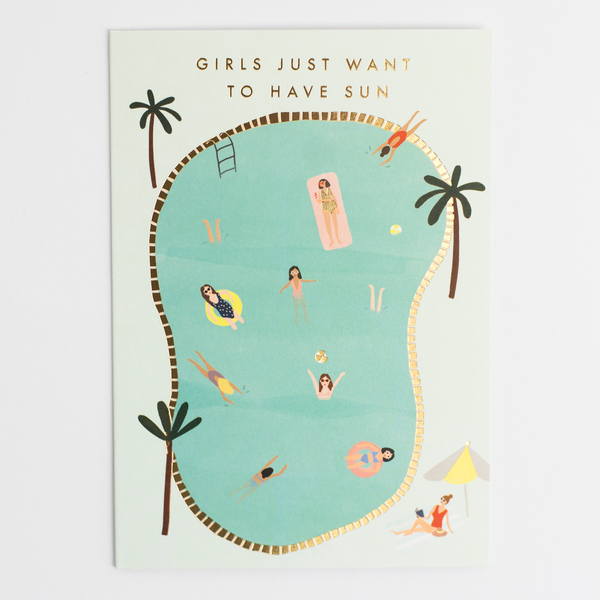 Meraki Pool Birthday Card