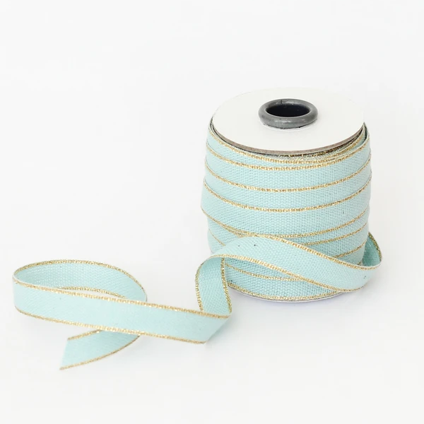 Studio Carta Drittofilo Cotton Ribbon - Pool & Gold