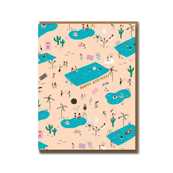 Carolyn Suzuki Pool Party Forever Birthday Card