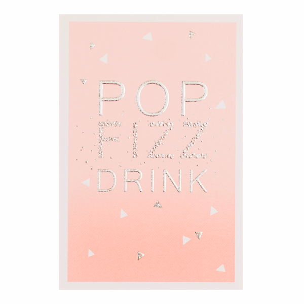 Meraki Pop Fizz Drink Birthday Card