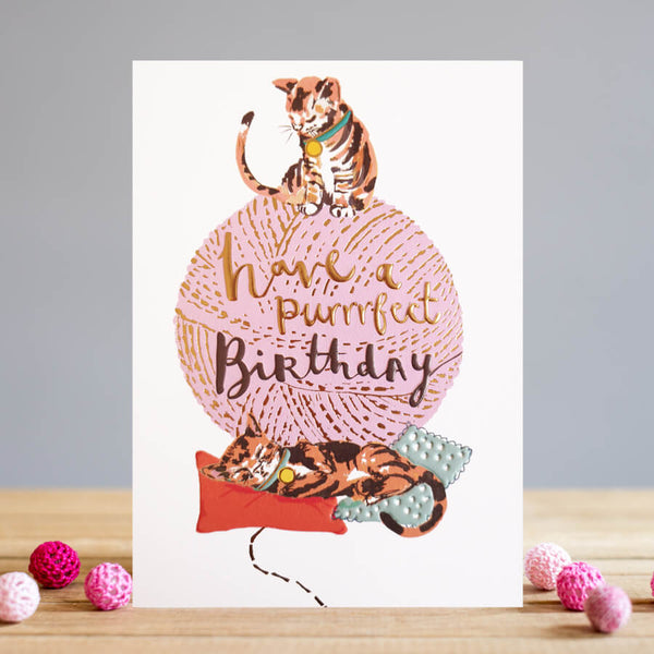 Louise Tiler Purrfect Birthday Card