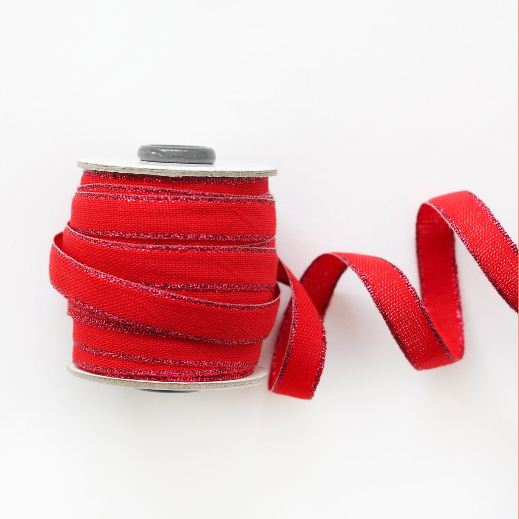 Studio Carta Drittofilo Cotton Ribbon - Red & Berry