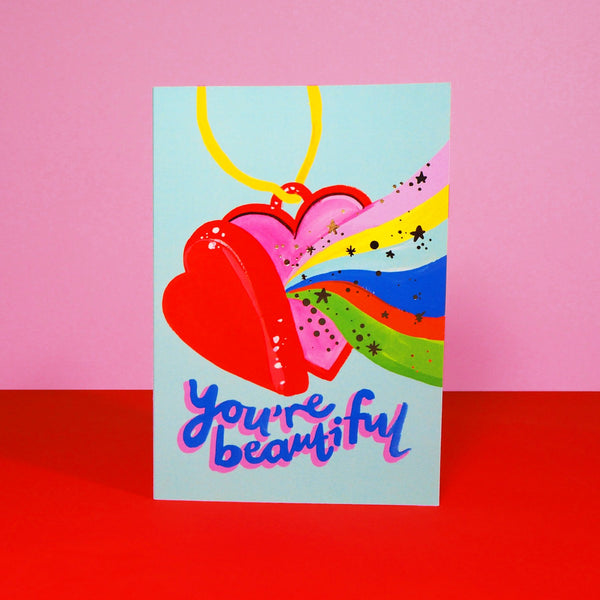 Eleanor Bowmer You're Beautiful Card (Retro 19)