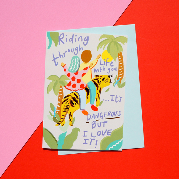 Eleanor Bowmer Riding Through Life With You Anniversary Card