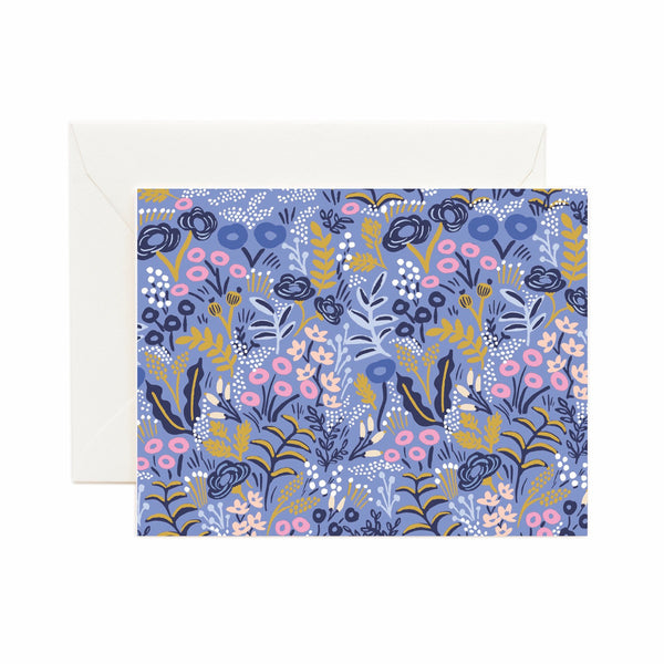 Rifle Paper Co. Tapestry Cobalt Card