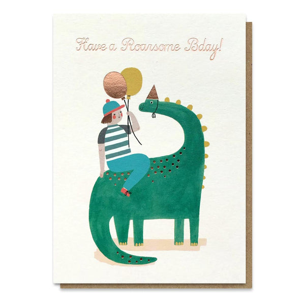 Stormy Knight Roarsome Birthday Card