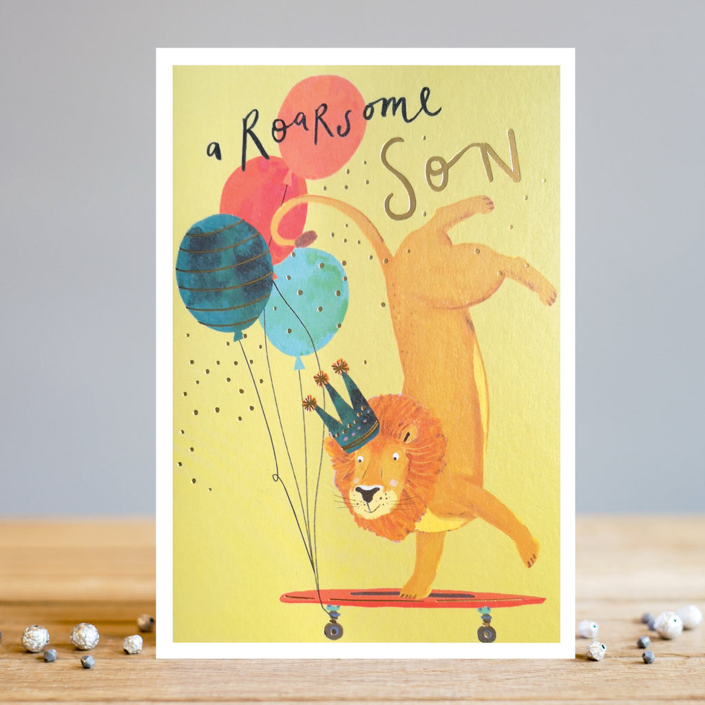 Louise Tiler Roarsome Son Lion Birthday Card