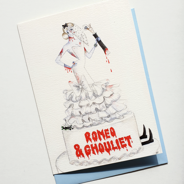 Andrea Kett Romeo & Ghouliet Halloween Card
