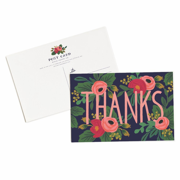 Rifle Paper Co. Rosa Thanks Postcards