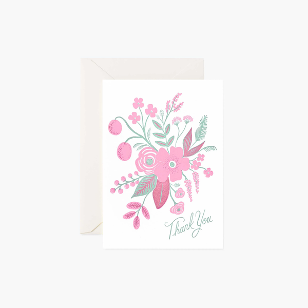 Rifle Paper Co. Rosy Thank You Card