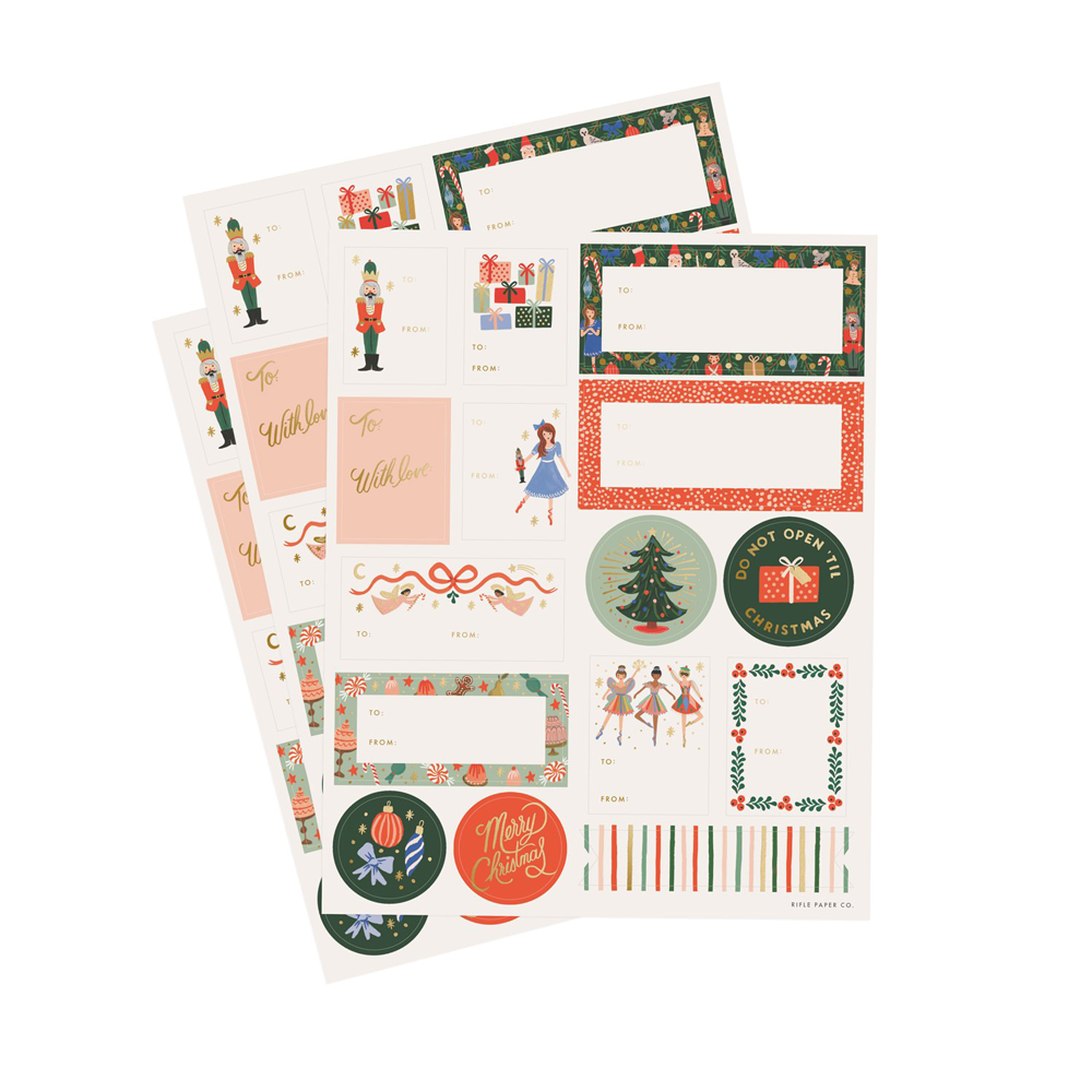Rifle Paper Co. Nutcracker Christmas Stickers & Labels